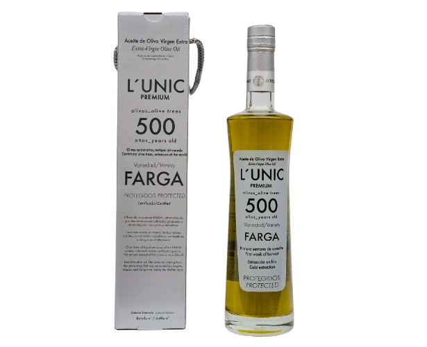 L´UNIC 500 years old extra virgin olive oil
