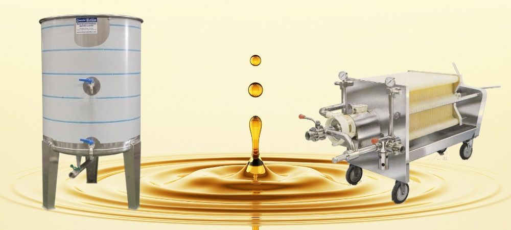decantation filtering storage olive oil