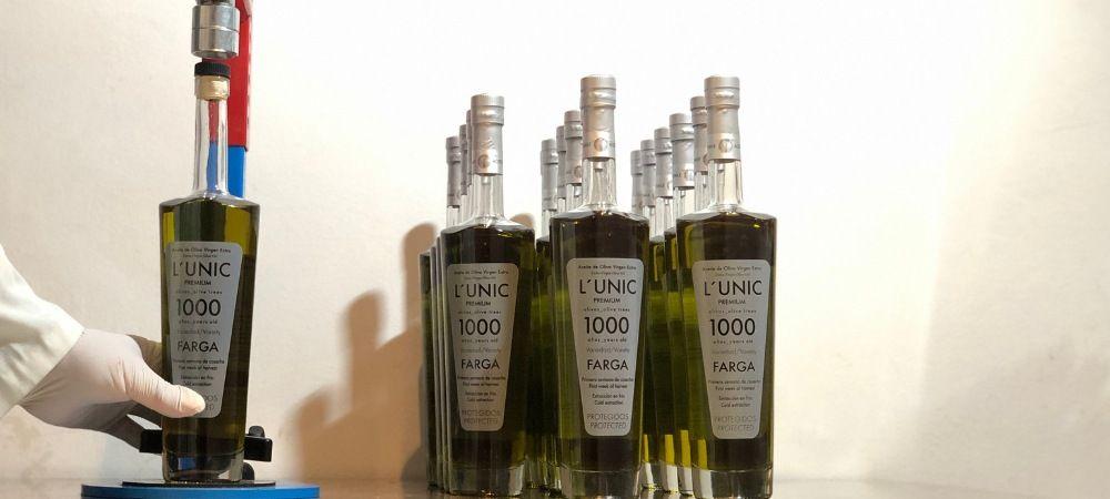 hand bottled olive oil